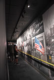 The National Civil Rights Museum in Memphis Tennessee. Memphis, TN, USA - June 9, 2017: Visitors view display at the National Civil Rights Museum and the site of stock photography
