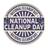 National CleanUp Day. Rubber stamp, vector Illustration royalty free illustration