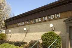National Clock and Watch Museum Sign Royalty Free Stock Image