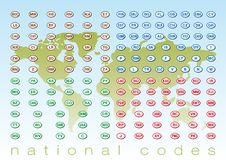 National codes Stock Photos