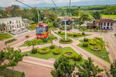 NATIONAL COFFEE PARK, COLOMBIA, Downward view of Royalty Free Stock Photography