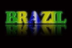 National color text illustration `BRAZIL` with special effect.  Stock Photography