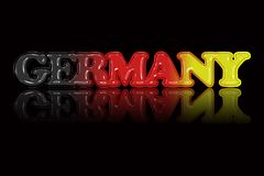 National color text illustration `GERMANY` with special effect.  Royalty Free Stock Photo