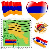 National colours of Armenia Stock Images