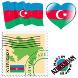 National colours of Azerbaijan Stock Image