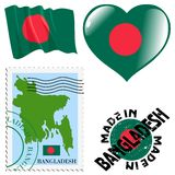National colours of Bangladesh Stock Photos