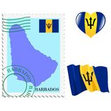 National colours of Barbados Royalty Free Stock Photography