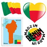 National colours of Benin Stock Photos