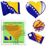 National colours of Bosnia Stock Images