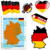 National colours of Germany Royalty Free Stock Photography