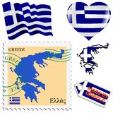 National colours of Greece Royalty Free Stock Photography