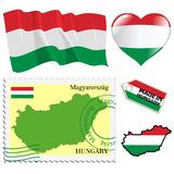 National colours of Hungary Stock Photos