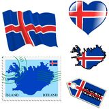 National colours of Iceland Stock Images