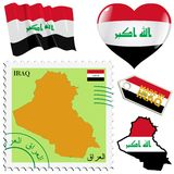 National colours of Iraq Royalty Free Stock Image
