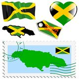 National colours of Jamaica Royalty Free Stock Images