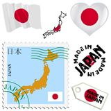 National colours of Japan Stock Images