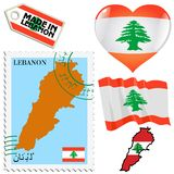 National colours of Lebanon Royalty Free Stock Image