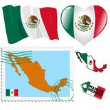 National colours of Mexico Royalty Free Stock Photography