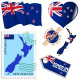 National colours of New Zealand Stock Photography