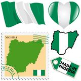National colours of Nigeria Royalty Free Stock Photography