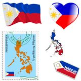 National colours of Philippines Royalty Free Stock Photography