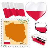 National colours of Poland Stock Image