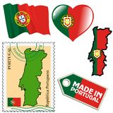 National colours of Portugal Stock Photography