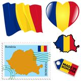National colours of Romania Royalty Free Stock Photo