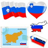 National colours of Slovenia Royalty Free Stock Photography