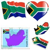 National colours of South Africa Stock Photos
