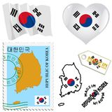 National colours of South Korea Royalty Free Stock Images