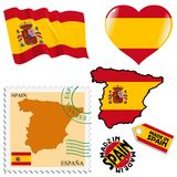 National colours of Spain Stock Photos