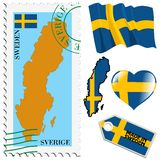 National colours of Sweden Stock Photo