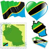 National colours of Tanzania Royalty Free Stock Image