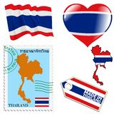 National colours of Thailand Stock Photos