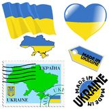 National colours of Ukraine Royalty Free Stock Photos