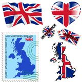 National colours of United Kingdom Stock Photo