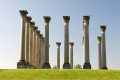 National Columns Landmark. The columns were first built for the East Portico of the Capitol in 1828.  They were quarried from sandstone and were barged to Stock Images