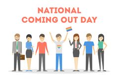 National coming out day. Royalty Free Stock Photo