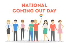 National coming out day. Royalty Free Stock Images