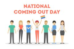 National coming out day. Stock Images