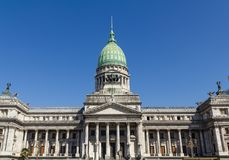 The National Congress in Buenos Aires, Argentina. Congress square monument in Buenos Aires, Argentina Royalty Free Stock Photography