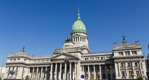 The National Congress in Buenos Aires, Argentina. Congress square monument in Buenos Aires, Argentina Stock Photo