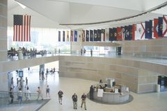 National Constitution Center. Interior of National Constitution Center for the US Constitution on Independence Mall, Philadelphia, Pennsylvania Stock Images