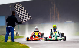 National contest of karting 2010 Stock Photo