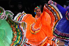 National costume of Mexico, women. National costume and dance of Mexico in festival Stock Image
