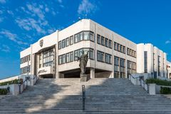 The National Council of the Slovak Republic. Since the entry of the Slovak Republic into the European Union in 2004, the National Council of the Slovak Republic stock photo