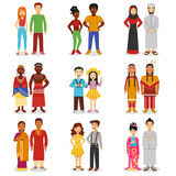 National Couples Icons Set Royalty Free Stock Photography