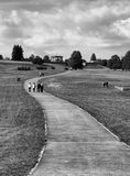 National cultural monument Lidice BW Stock Photography