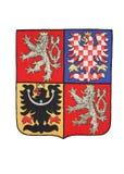 National Czech Republic Emblem Isolated on White royalty free stock photography